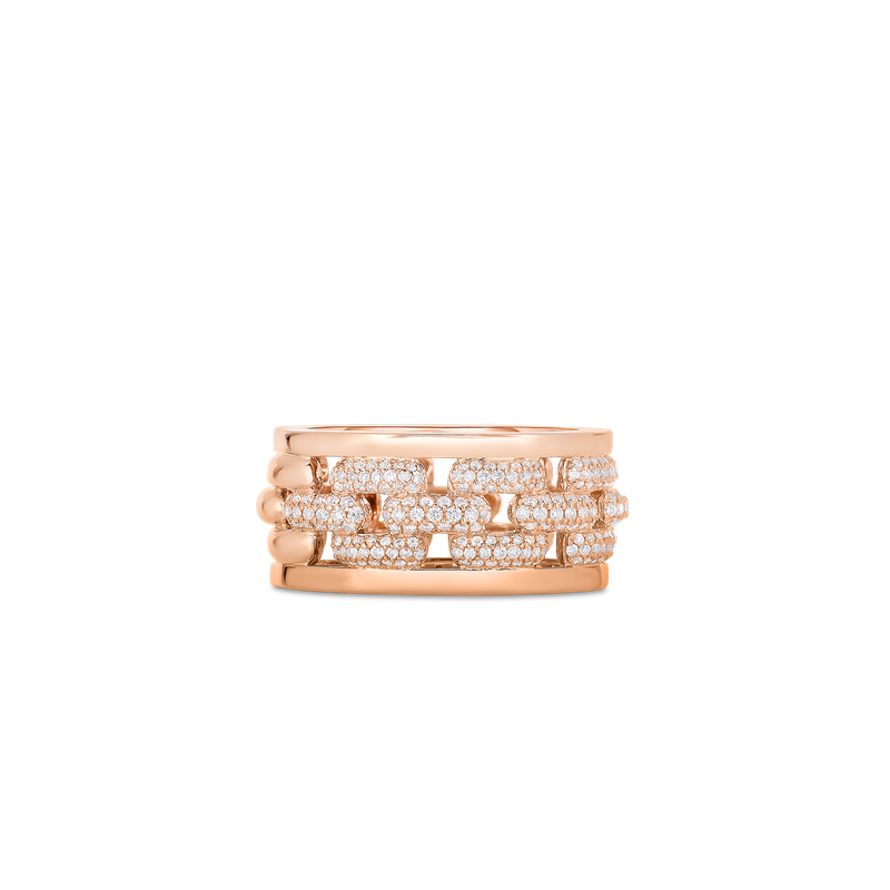 Roberto Coin Ring With Diamonds &Ndash; 18K Rose Gold, 6.5