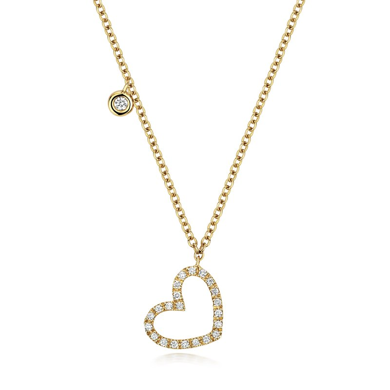 Treasure Diamond Heart Necklace