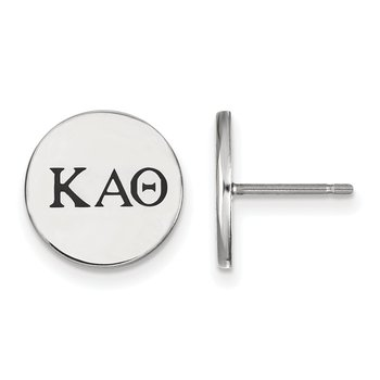 Sterling Silver Kappa Alpha Theta Greek Life Earrings