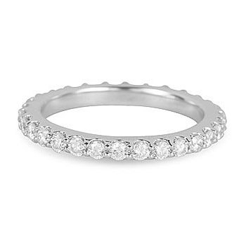 18K WG Diamond Eternity Band in Prong Setting 1.00 Cts