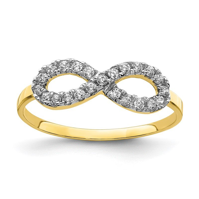 Quality Gold 10K CZ Infinity Ring