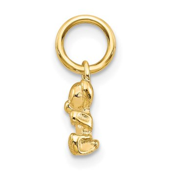 14k Polished Teddy Bear Charm