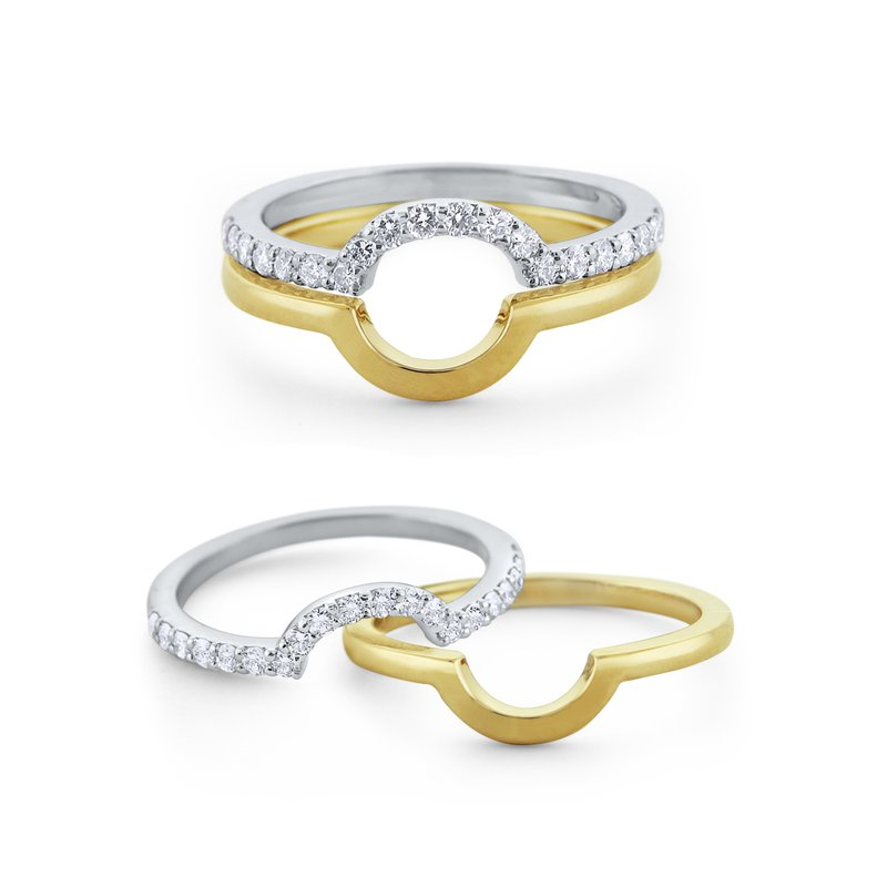 KC Designs 14K Two In One Ring
