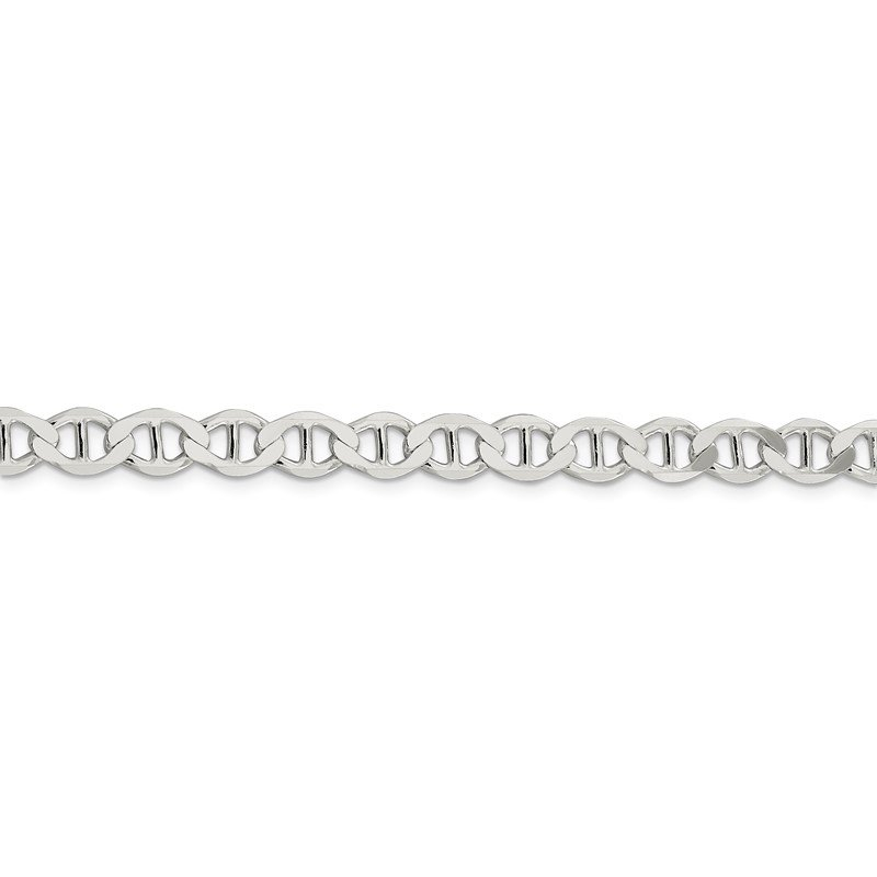 Quality Gold Sterling Silver 7.1mm Flat Anchor Chain
