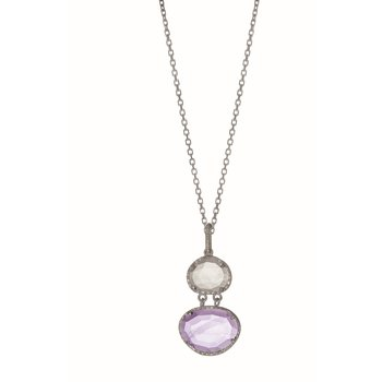 Sterling Silver Gem Candy Necklace