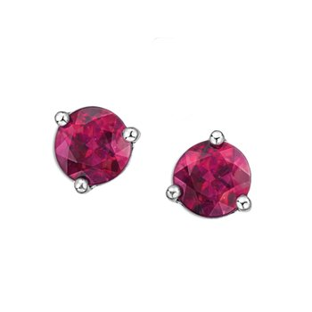 Pink Topaz Earrings