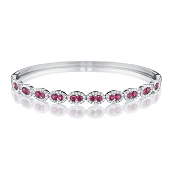 Unforgettable You Ruby with Diamond Halo Bracelet