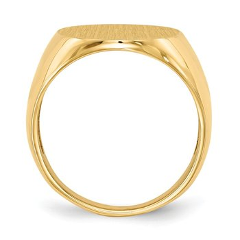 14k 20.5x16.0mm Open Back Mens Signet Ring