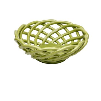 Medium Round Basket, Green