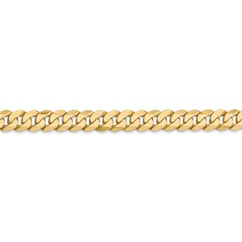 14k 6.25mm Flat Beveled Curb Chain