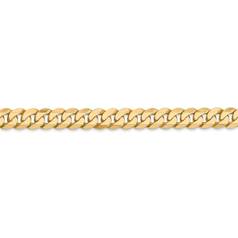 Quality Gold 14k 6.25mm Flat Beveled Curb Chain