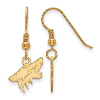Gold-Plated Sterling Silver Phoenix Coyotes NHL Earrings