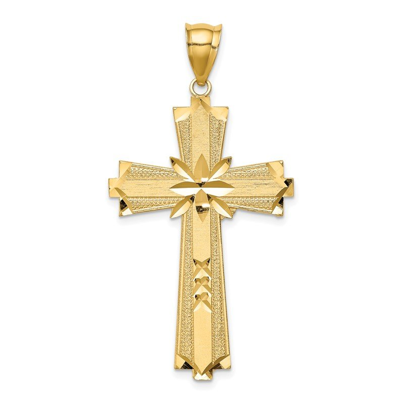 Lester Martin Online Collection 14K Diamond-cut Cross Pendant
