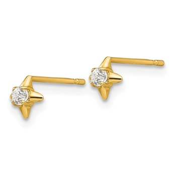 14k Madi K CZ Children's Post Earrings