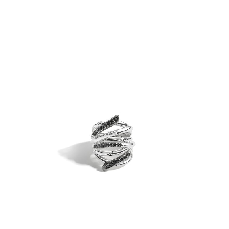 John Hardy Bamboo Ring in Silver with Gemstone