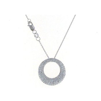 18Kt White Gold Small Diamond Pendant