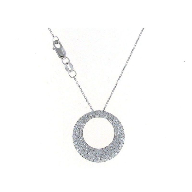Roberto Coin 18Kt White Gold Small Diamond Pendant