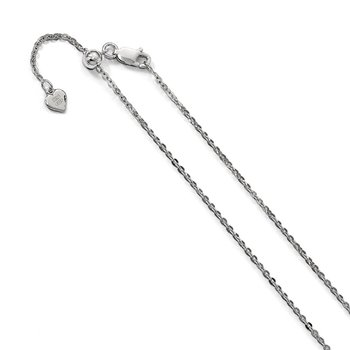 Leslie's Sterling Silver 1.75 mm Adjustable Cable Chain