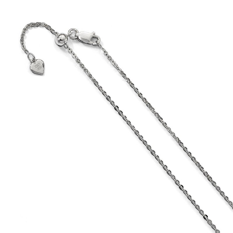 Leslie's Leslie's Sterling Silver Adjustable 1.75mm Cable Chain