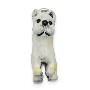 Sterling Silver Enameled West Highland Terrier Charm