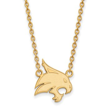Gold Texas State University NCAA Necklace