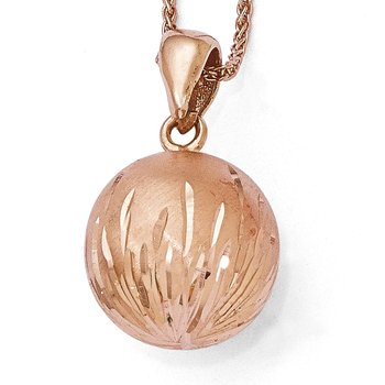 Leslie's Sterling Silver Radiant Essence Rose Gold-plated Pendant