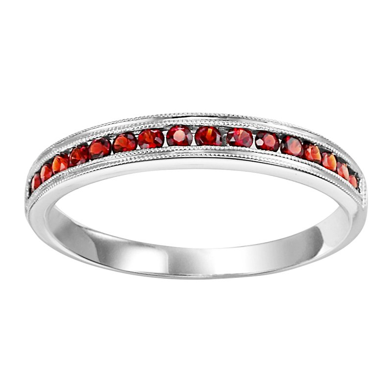 Mixables 10K Garnet Mixable Ring