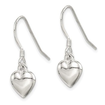 Sterling Silver Heart Dangle Earrings