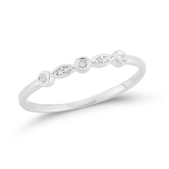 14K delicate band 7 Diamonds 0.04C