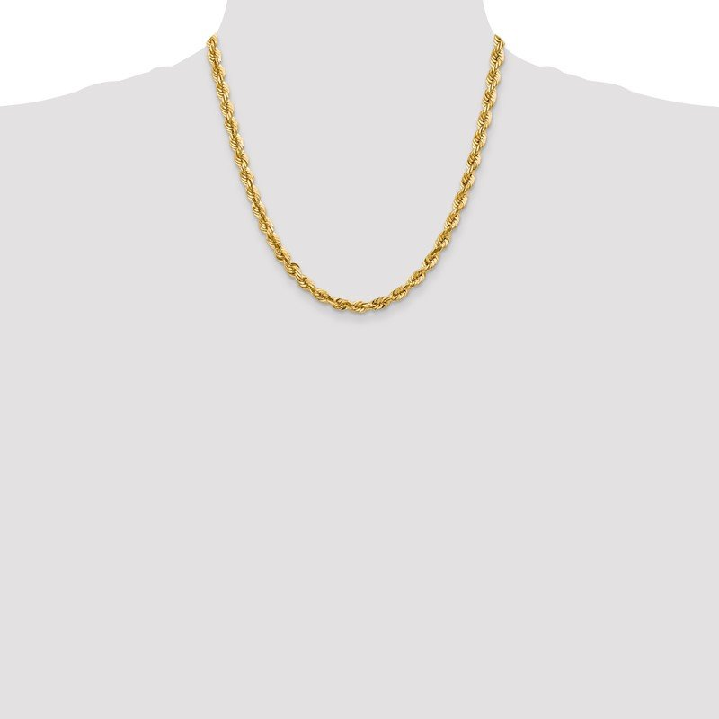 Quality Gold 14k 5.5mm D/C Rope with Lobster Clasp Chain