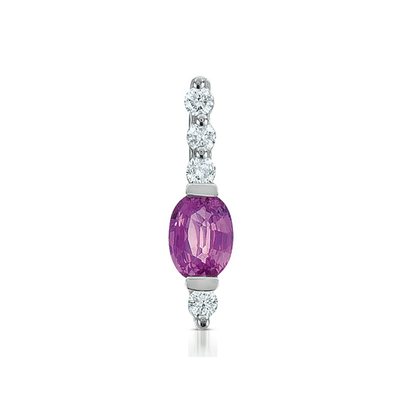 S. Kashi  & Sons Pink Sapphire & Dia Pendant