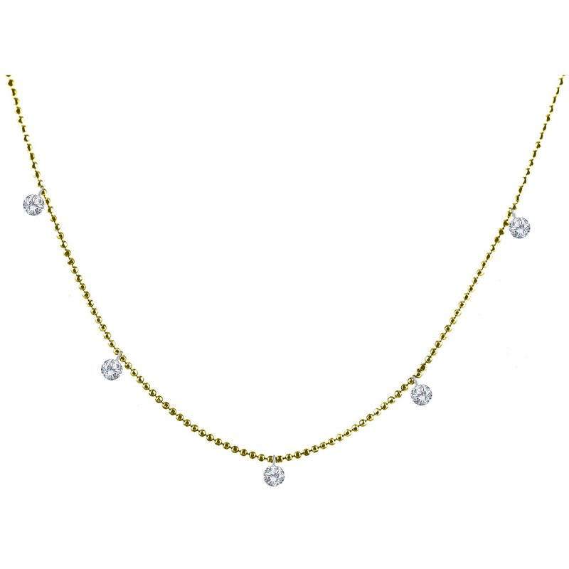 Color Merchants 14K Yellow Gold Dashing Diamonds Pendant