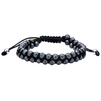 Grey Hematite Beads Adjustable Bracelet
