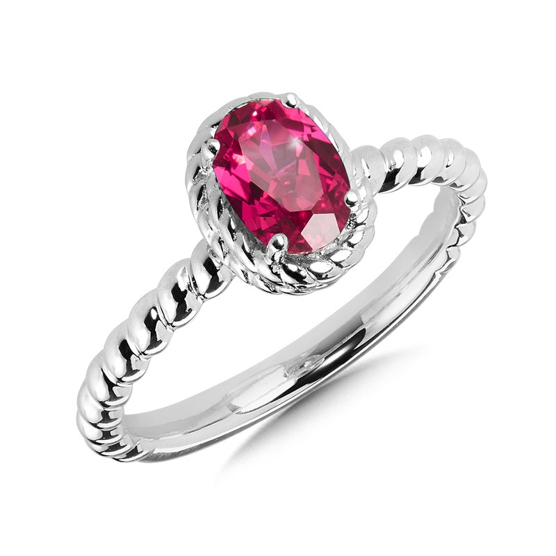 SDC Creations Created Ruby Ring in Sterling Silver