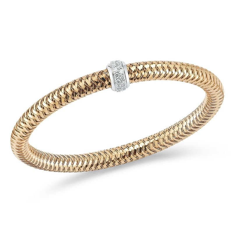 Roberto Coin Flexible Bangle With Diamonds &Ndash; 18K Rose Gold