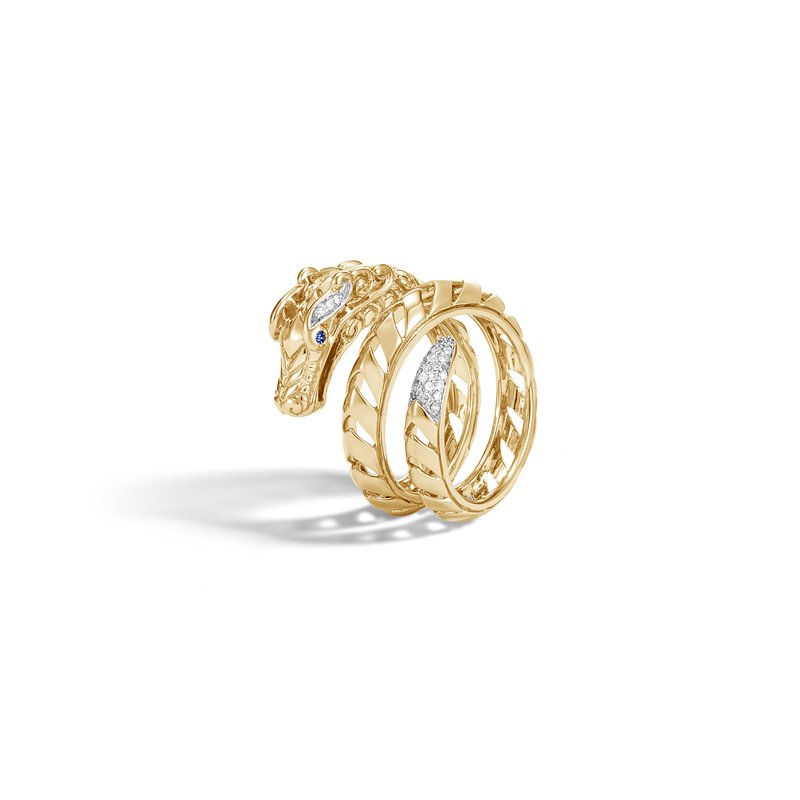 JOHN HARDY Legends Naga Ring in 18K Gold with Diamonds