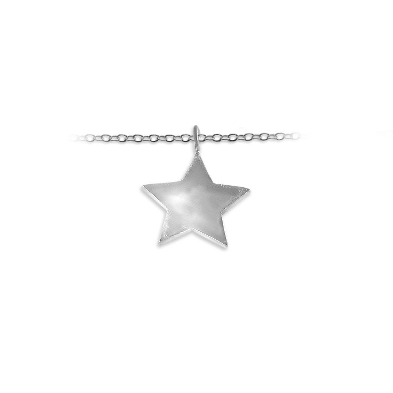 Slate and Tell 25mm Solid Star Charm
