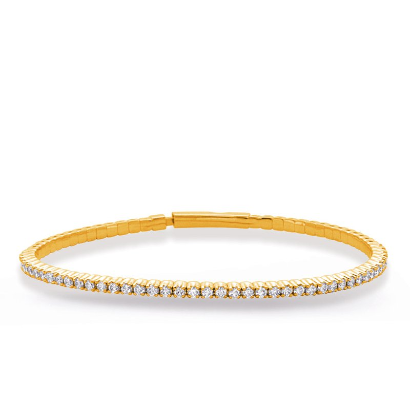 S. Kashi  & Sons Yellow Gold Flexable Bangle Bracelet