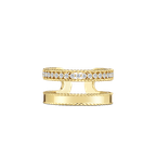 Roberto Coin Double Symphony Princess Ring With Diamonds