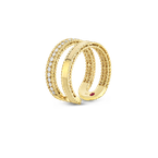 Roberto Coin 18Kt Gold Double Symphony Princess Ring With Diamonds