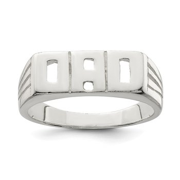 Sterling Silver Solid Dad Ring