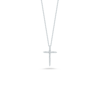 #26575 Of 18Kt Gold Cross Pendant With Diamonds