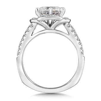Halo Engagement Ring Mounting in 14K White Gold (.47 ct. tw.)