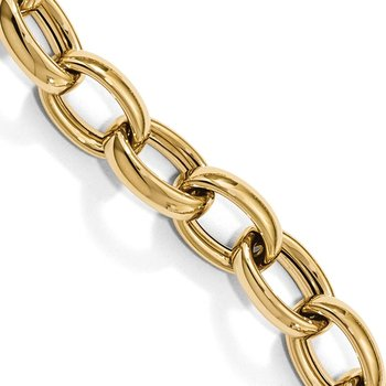 Leslie's 14k Polished Fancy Link 8.25in w/.75in ext Bracelet