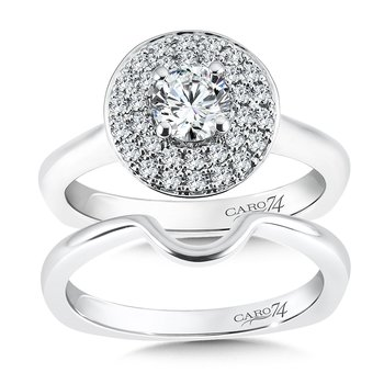 Double Halo Engagement Ring in 14K White Gold (1/2ct. tw.)