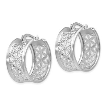 Leslie's Sterling Silver D/C Hinged Hoop Earrings