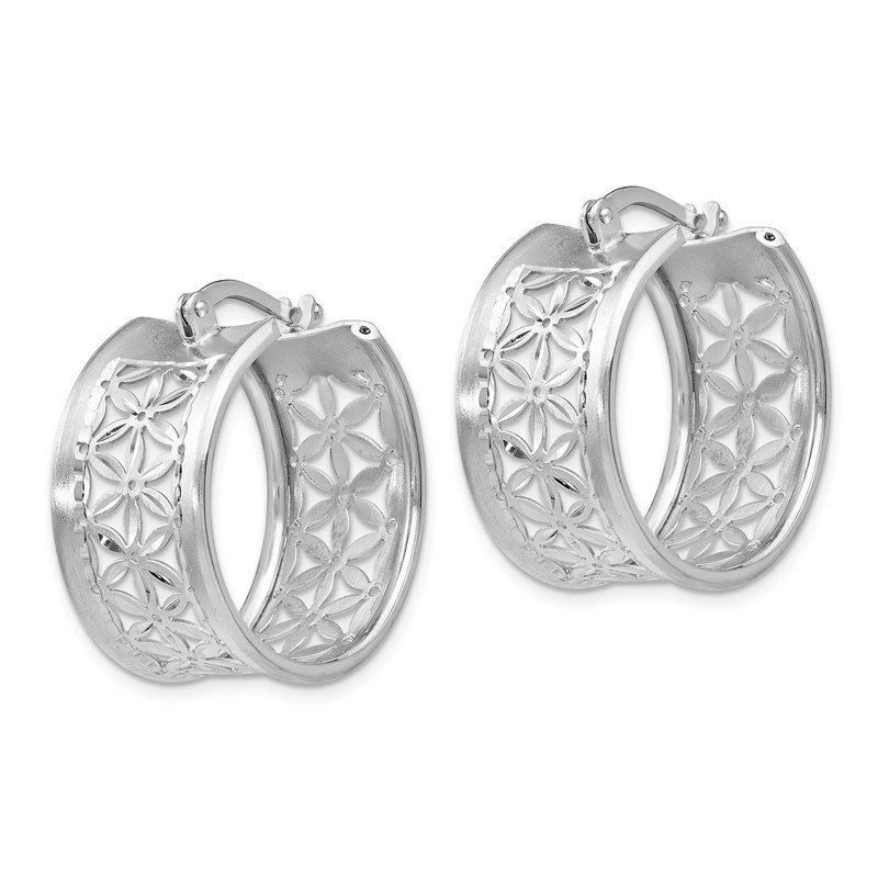 Leslie's Leslie's Sterling Silver D/C Hinged Hoop Earrings