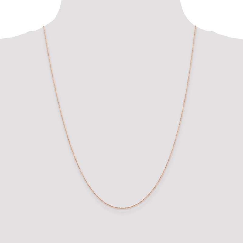 Quality Gold 14k Rose Gold .5mm Baby Rope Chain