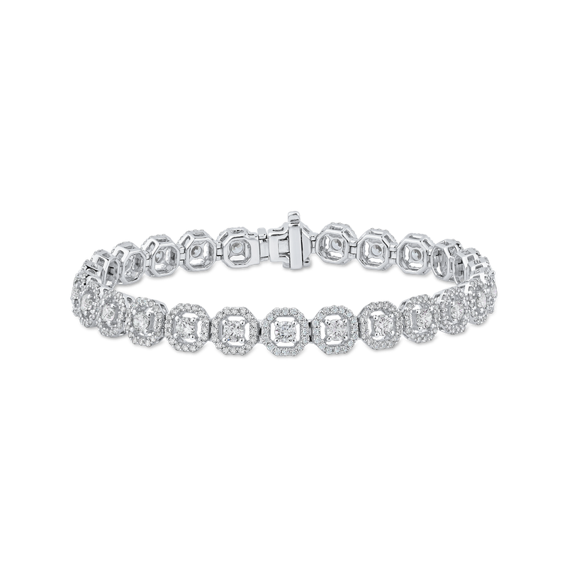 Essentials 4.94 ct Round White Diamond 14K White Gold Tennis Bracelet