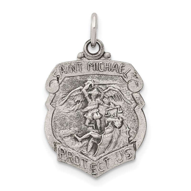 Quality Gold Sterling Silver St. Michael Badge Medal